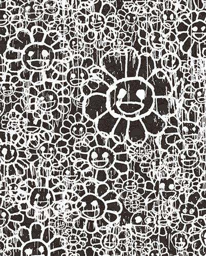Takashi Murakami, 'Madsaki Flowers C Black', 2017, Dope! Gallery
