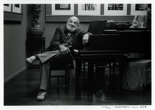 , 'Ansel Adams at Piano,' 1978, Photography West Gallery