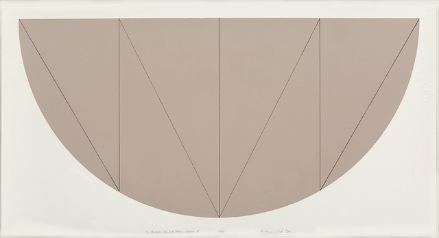 , '1/2 Brown Curved Area, Series V,' 1968, Nikola Rukaj Gallery