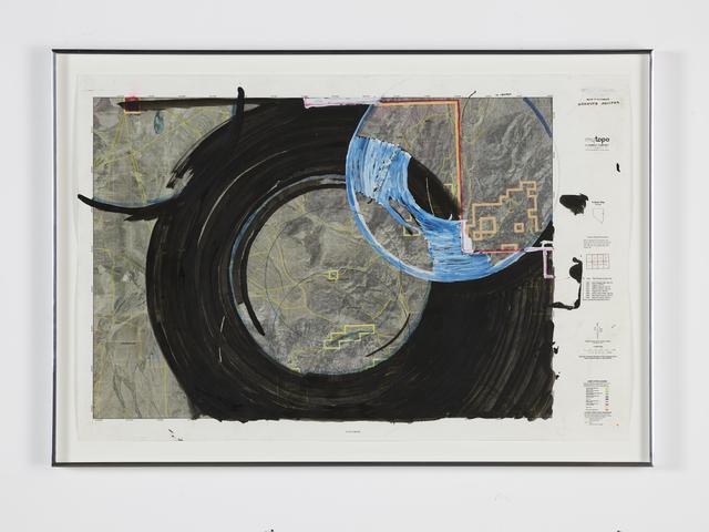 Oscar Tuazon, 'Water Map (Goshute Aquifer, Spring Valley, NV)', 2018, Luhring Augustine