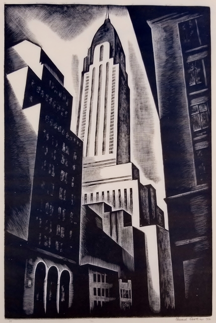 Howard Cook, 'Chrysler Building', 1930, Print, Wood engraving on thin wove paper., Catherine E. Burns Fine Prints