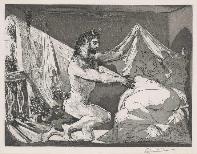 Pablo Picasso, 'Faune devoilant une femme, from: La Suite Vollard', 1936, Christie's