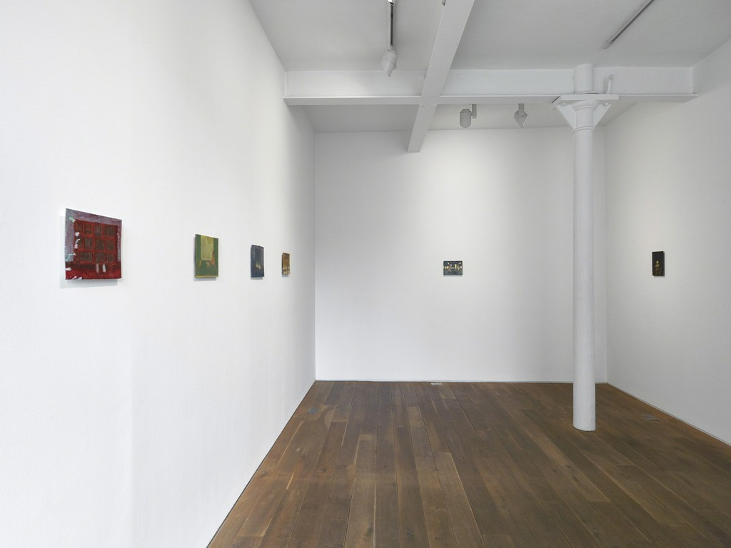 Installation view of Andrew Cranston's solo exhibition 'paintings from a room'