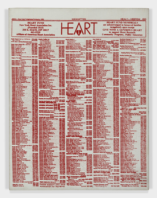, 'Valentine's Hearts Ads (Heart Fund),' 1983, Somerville Manning Gallery