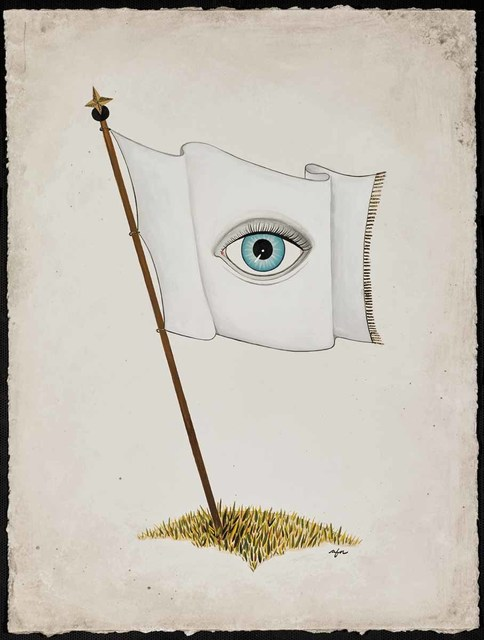 Anne Faith Nicholls, 'All-Seeing Flag - White', 2016, Martin Lawrence Galleries
