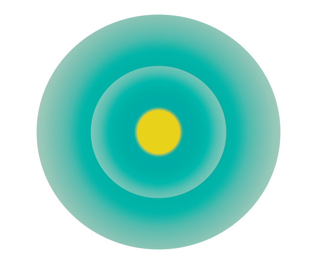 , 'Turquoise Green Circle with Yellow Centre,' , ArtStar