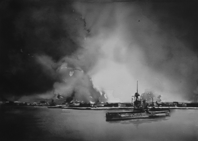 , 'Plumes of smoke rising from Smyrna on September 14, 1922.,' 2017, Christine König Galerie