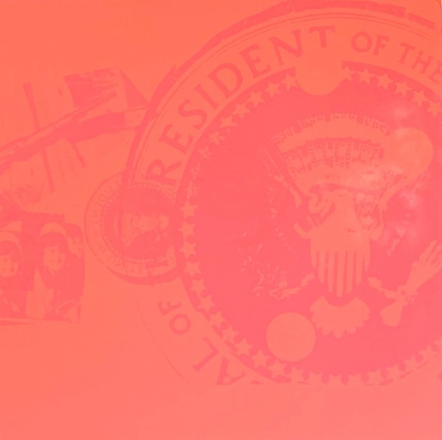 Andy Warhol, 'Flash, Orange Presidential Seal (Rare Trial Proof)', 1968, Robert Fontaine Gallery