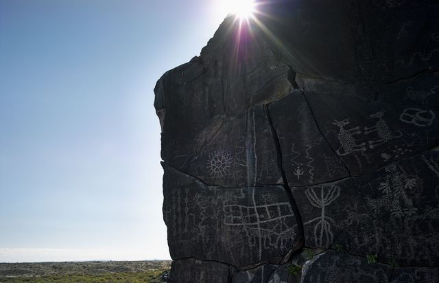 Mark Klett, 'Petroglyphs near Sears Point, Gila River, from Camino del Diablo', Etherton Gallery