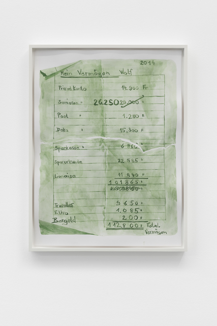 , 'Listen (Vermögen Wolfgang),' 2018, Galerie Mehdi Chouakri