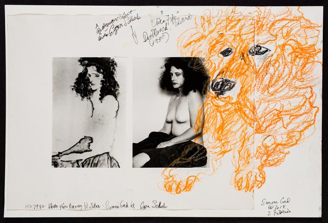 , 'Autoportrait avec Egon Schiele photo par Nancy Webber/Chien Fips Du Edvard Munch 1930,' 2018, Track 16 Gallery