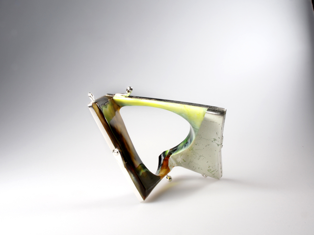 Petra Zimmermann, 'No title, bracelet', 2013, Fashion Design and Wearable Art, Polymethyl methacrylate, silvered alpacca, white gold leaf, TRECE SIN 3