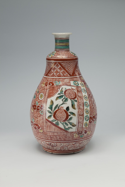 , 'Wine Bottle with Floral Panel Decoration,' Kambun Era, 1661 , 1672, Sebastian Izzard LLC Asian Art