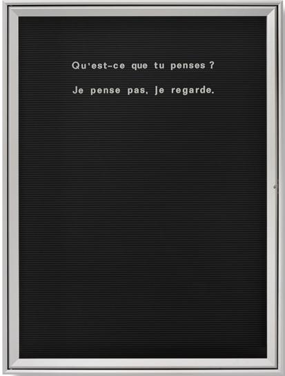 , 'Untitled (Qu'est-ce que tu penses),' 2006, Vistamare