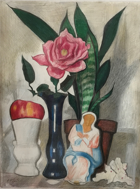 Joseph Stella, 'Still Life (Figurine)', 1943, Madelyn Jordon Fine Art