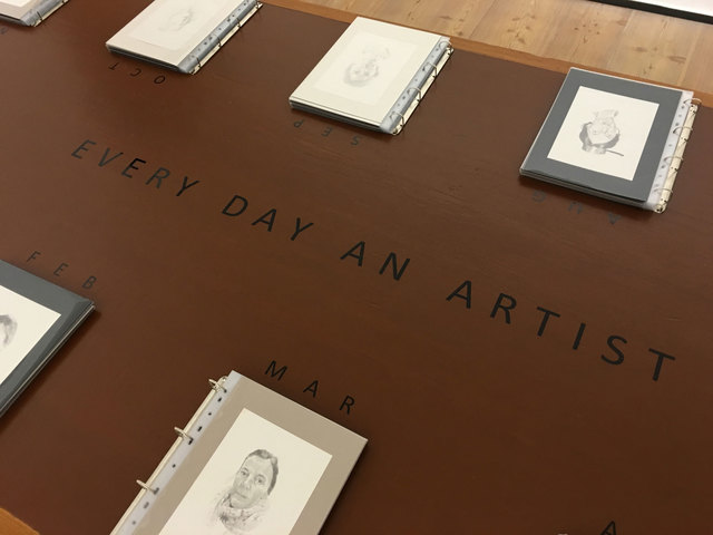 , 'Installation view, Every Day an Artist, 365 drawings on paper,' 2013, Gowen Contemporary