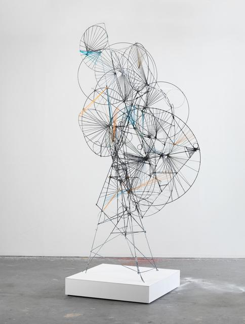Matthias Bitzer, 'The appearance of the giants', 2013, Sculpture, Wire, thread, yam, spray-paint, Almine Rech