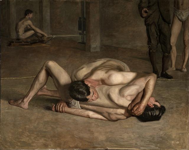 Thomas Eakins, 'Wrestlers,' 1899, Los Angeles County Museum of Art