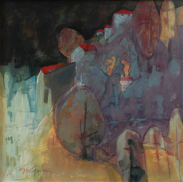, 'Red Roofs,' , Abend Gallery