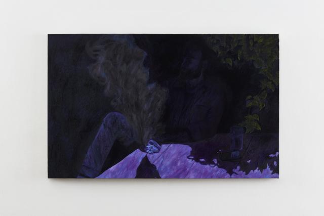 , 'Brian smoking outside Cascade Brewery,' 2016, Klowden Mann