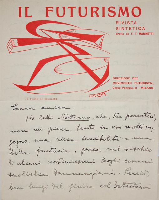 Giacomo Balla, 'Il Futurismo (1)', 1915-1923, Studio Mariani Gallery
