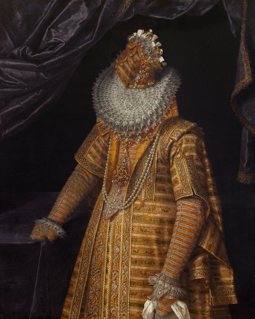, 'Caput # 05 / 3070, based on ERZHERZOGIN ELEONORE (1582–1620) by Frans Pourbus d. J., around 1603,' 2018, Galerie Reinthaler