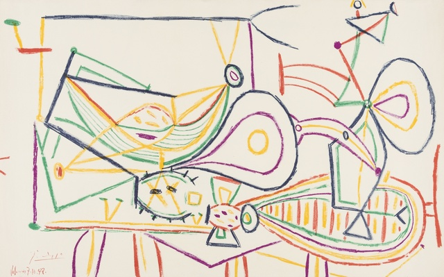 Pablo Picasso, 'Composition', 1948, Print, Offset lithograph printed in colours, Forum Auctions