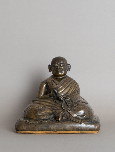 , 'Portrait of a seated monk holding a mala,' 14th century, Rossi & Rossi