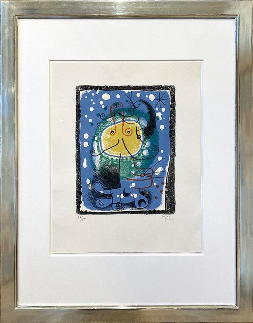 Joan Miró, 'Personnage sur fond bleu', 1957, Galerie Kellermann