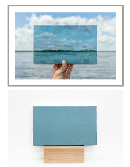 , 'Lake Kegonsa, 27/06/2017  -  one photograph and one painting of a series of 5 photographs and 5 paintings,' 2017, Maus Contemporary