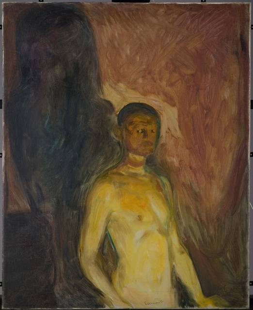, 'Selvportrett i helvete (Self-Portrait in Hell),' 1903, Munch Museum