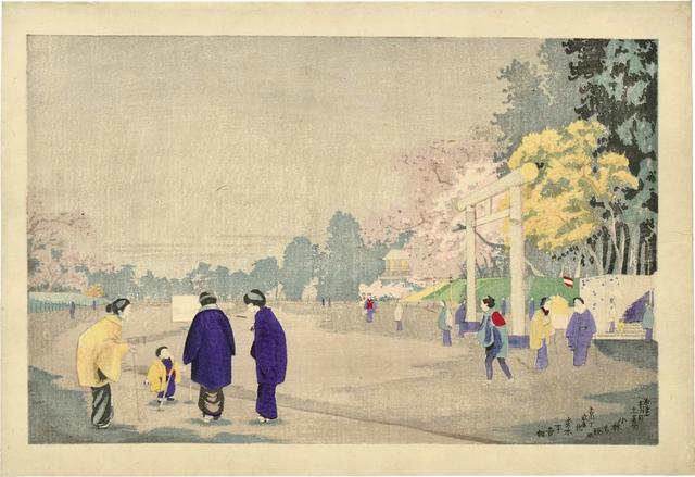 , 'Painter Sketching in Ueno Park,' ca. 1876, Scholten Japanese Art