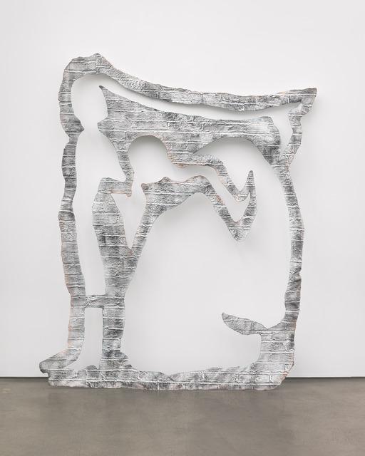 Johannes VanDerBeek, 'Wall (Light Step)', 2012, Sculpture, Fiberglass, Acqua-Resin, steel and paint, Feuer/Mesler