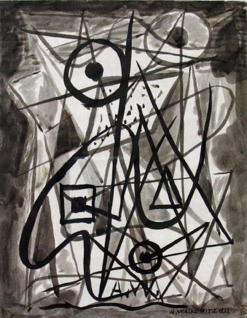 Abraham Walkowitz, 'Untitled Abstraction', 1936, Drawing, Collage or other Work on Paper, Ink, F.L. Braswell Fine Art