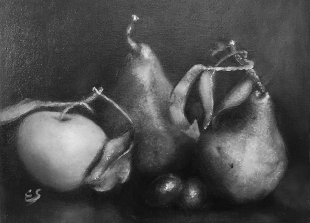 , 'Pears and Green Apple,' 2018, The Galleries at Salmagundi