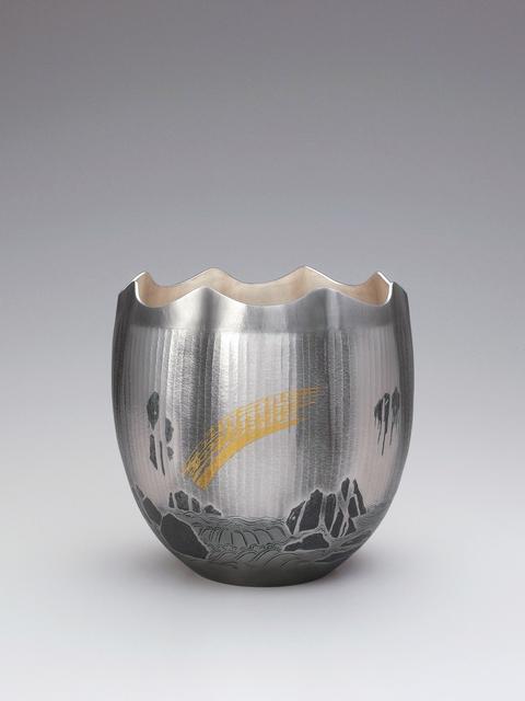 ", 'Silver Vase ""Bakufu (Waterfall)"",' 2011, Onishi Gallery"