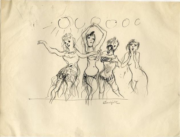 Léonard Tsugouharu Foujita, 'Striptease', Arts et Autographes