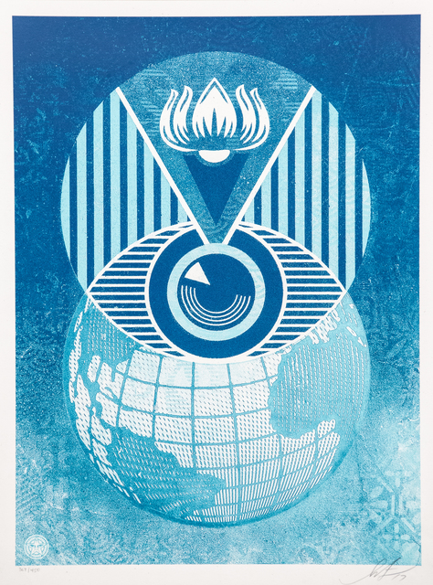 Shepard Fairey, 'Flint Eye Alert Globe', Artrust
