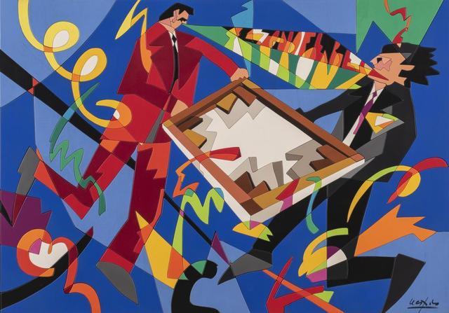 Ugo Nespolo, 'Composizione', Painting, Acrylic on wood, Itineris