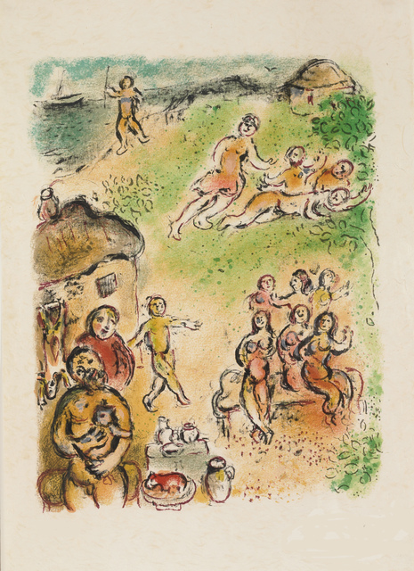Marc Chagall, 'The Island of Aeoliae (M.777, L'Odyssée)', 1974, Martin Lawrence Galleries