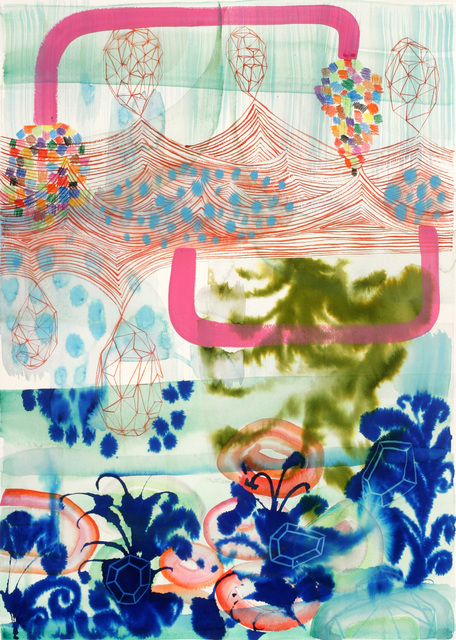 Gabe Brown, 'Untitled 245', ca. 2007, Drawing, Collage or other Work on Paper, Watercolor ink and pencil on paper unframed, Adah Rose Gallery