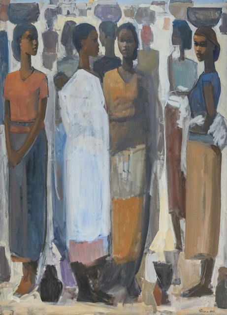 , 'Pillars of Life: Saturday Market III,' 2019, Addis Fine Art