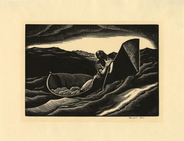 Rockwell Kent Original Engraving Starry Night For Sale