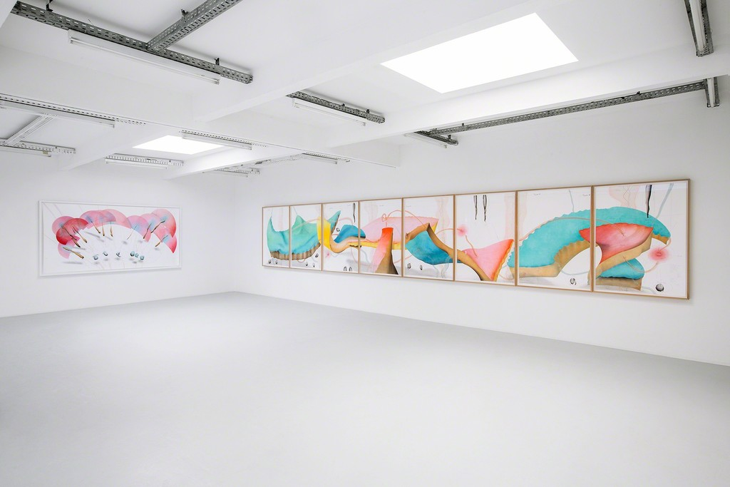 Exhibitiuon view: Jorinde Voigt: Song of the Earth