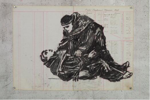 , 'Robed Figures I,' 2015, Lia Rumma
