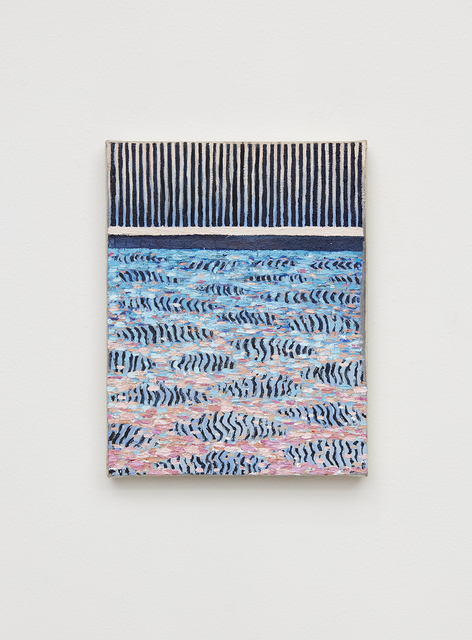 , 'Fence reflected on pool, sundown,' 2017, Klowden Mann