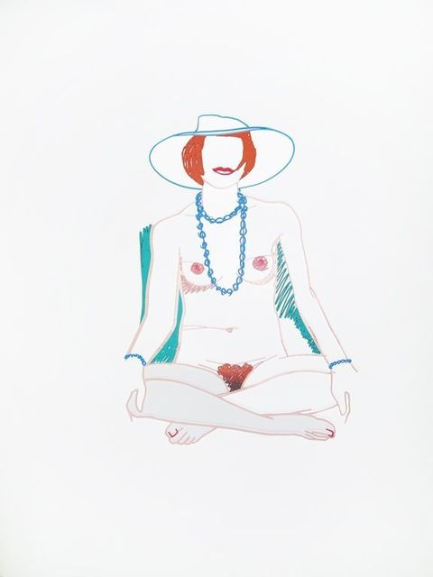 , 'Monica Cross-legged with Beads,' 1985, Hamilton-Selway Fine Art