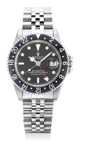 Rolex, 'A rare stainless steel dual time wristwatch with sweep center seconds, date and bracelet', Circa 1972, Phillips
