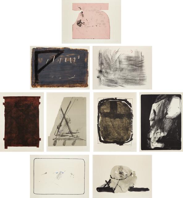 Antoni Tàpies, 'Album St. Gallen: nine plates', 1965, Phillips