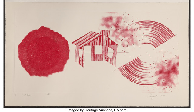 James Rosenquist, 'Hot Lake 2nd State', 1978, Print, Etching with aquatint in colors on wove paper, Heritage Auctions